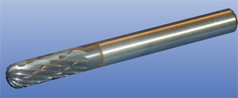 carbide milling pin tialn spherical front